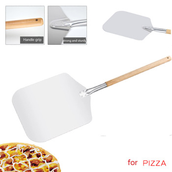 Aluminum Pizza Peel Shovel With Long Wooden Handle Pastry Tools Baking Paddle Spatula Cake Baking Cutter Knife Accessories