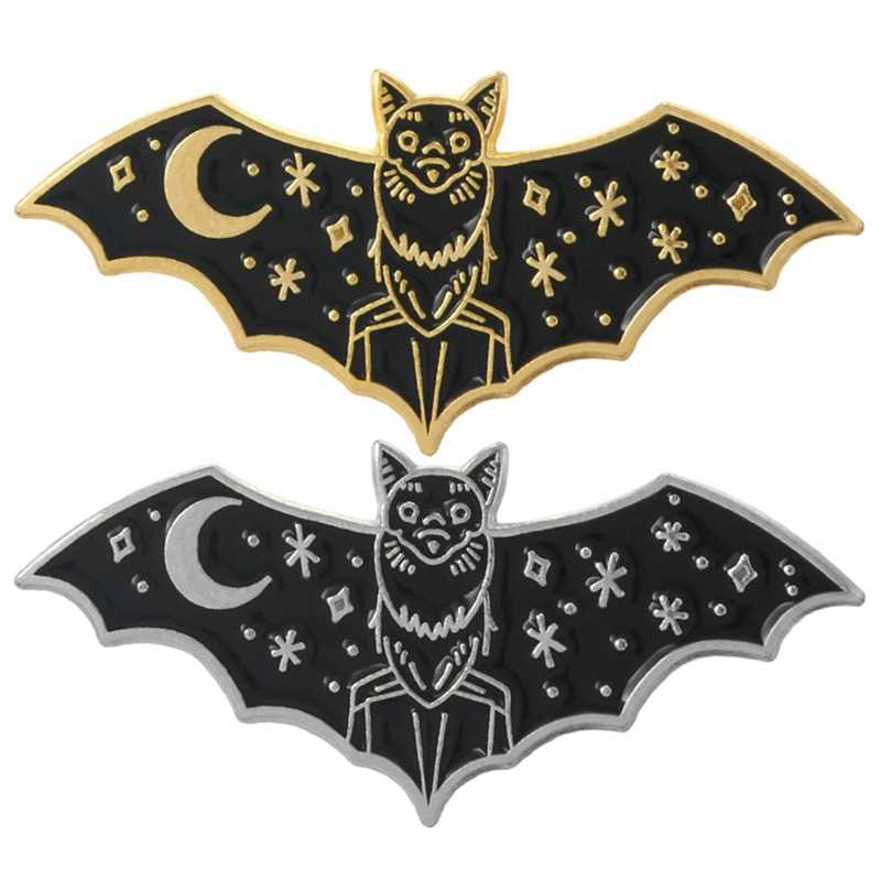Fashion Unisex Bat Enamel Brooch Pin Collar Jeans Shirt Badge Jewelry New