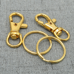 Image 4 - 50   Key Chain Supplies   Swivel Clasp Key Clasp Trigger Snap Clip Hook + Split Key Ring   Silver Plated, Bronze, Copper, Steel