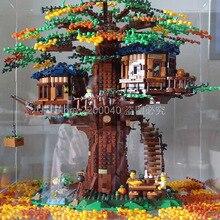 SY6007, новинка, идеи, дерево, дом, модель, строительные блоки, кирпичи, детские игрушки, рождественские подарки, 21318