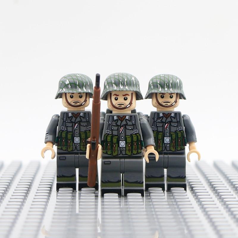 Building Blocks WW2 Military German Soldier Weapons Gun 98K Helmet Mini Bricks Custom ww2 Army Figure Moc Model Building Toy Set