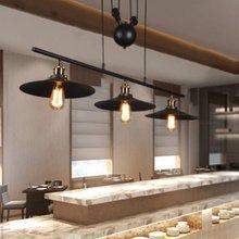 Vintage industrial lámparas polea 3 colgante luz de iluminación para mesa de billar de cocina Bar isla lámpara Retro