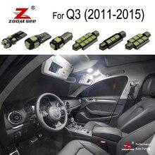 17 шт. canbus ОШИБОК чтения светодиодные лампы внутреннего освещения купольный свет комплект для Audi Q3 Quattro(2011