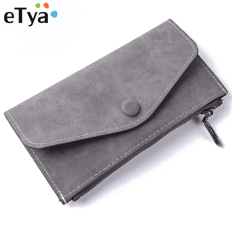 ETya High Quality Fashion Long Wallet Women With 6 Card Holders Womens Wallets And Purses Leather Female Clutch Money Bag
