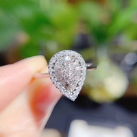 AEAW 0.3carat diamond pear design Engagement 18K White Gold Luxury diamond wedding ring