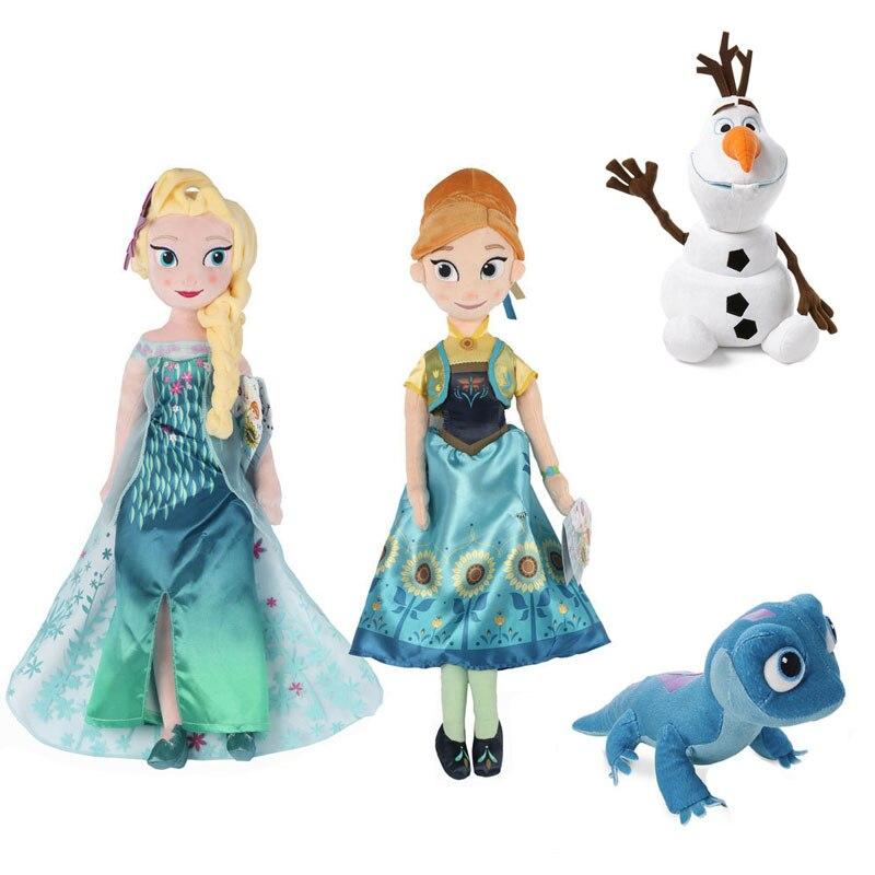 Disney Frozen 2 Snow Queen Princess Anna Elsa Plush Doll 2020 NEW Fire Lizard 2 Fever Fire Elves Snowman Olaf Plush Doll For Kid