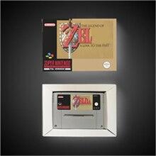 A lenda de zeldaed um link para o passado eur versão rpg jogo cartão de bateria salvar com caixa de varejo