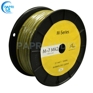 PAPRI HIFI diputados M-7MK2 99.99997% OCC Cable de altavoz audio taxi Cable de alimentación para reproductor de CD de Audio DVD DCA amplificador de tubo