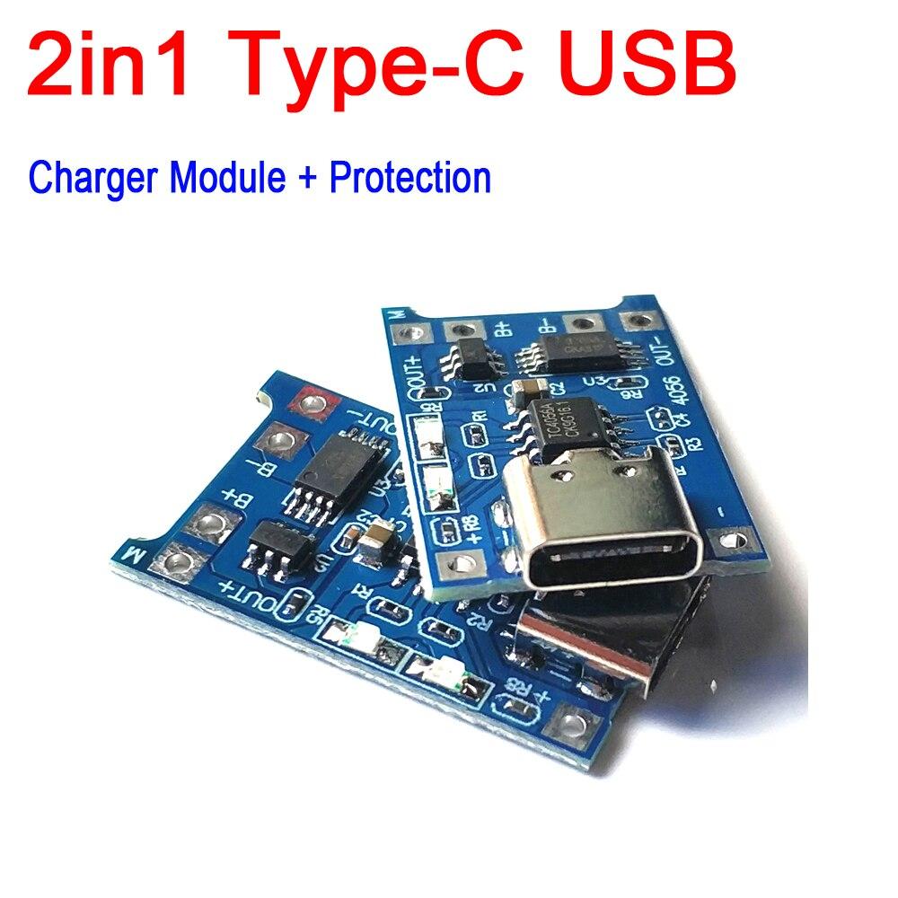 2 в 1, литиевое зарядное устройство TP4056 1A 1S 5 в 3,7 в 18650 в