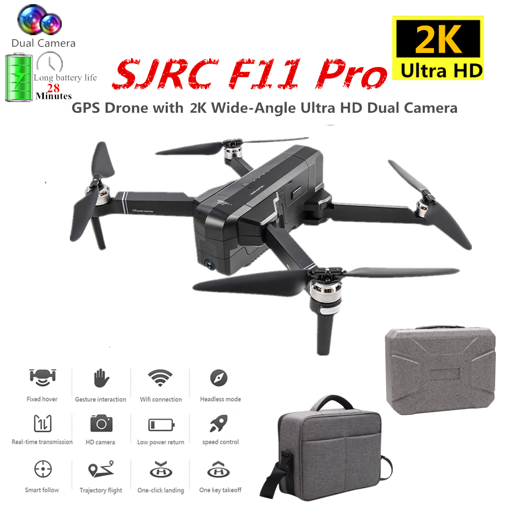 SJRC F11 PRO GPS Drone with 2K HD Camera Brushless Quadcopter 1600m Control Distance Foldable Dron VS SG906 B4W Toy