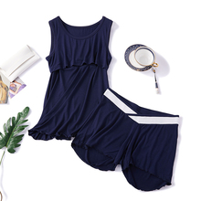 Maternity Nursing Set Sleeveless 2pcs/set Pregnant Women's Sleepwear Cotton Breastfeeding Pajamas Set For Pregnant Women breastfeeding clothes for pregnant women 2017 autumn nursing pajamas casual clothing set long sleeve maternity sleepwear a0035