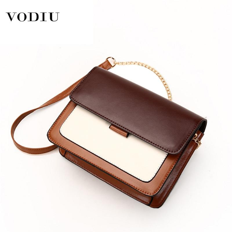 Women Bag Leather Handbag 2019 Designer Brand Mini Envelope High Quality Chain Color Matching Lady Shoulder Crossbody Women Bag