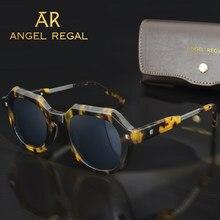 Retro Square Sunglasses Polarized Glass G15 Lens Anti-UV Eyeglasses Acetate Frame Men 2021 Sun Glasses Fashion Driving Glasses
