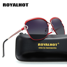 RoyalHot Women Polarized Sunglasses Oversized Vintage Aloly Frame Driving Sun Glasses Shades Oculos masculino Male 60012