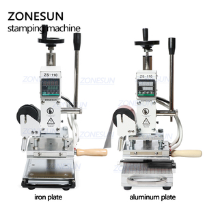 Image 2 - ZONESUN Hot Foil Stamping Machine For Customs logo Slideable Workbench  Leather Embossing Bronzing Tool for Wood PVC DIY Initial