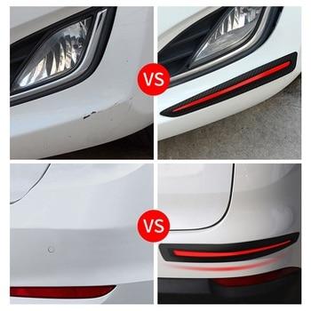 For Car Door Edge Protection Stickers Auto Anti Scratch Rubber Front/Rear Bumper Corner Guard Strip Protector 2Pcs/Set