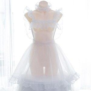 Image 1 - Bella Organza Bolla Trasparente Vestito Complessivo Della Bretella del Vestito Lolita Nake Grembiule Sexy del Vestito Della Biancheria Della Bamboletta del Costume