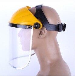 Anti ślina maska przeciwpyłowa przezroczyste pcv osłony ochronne osłony ekranu osłony głowy kask oddechowy maska ochronna w Kask ochronny od Bezpieczeństwo i ochrona na