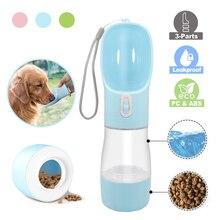 Cuenco alimentador de mascotas con botella de agua portátil para perros pequeños y grandes, botella de beber para gatos y cachorros de viaje, dispensador de agua para mascotas al aire libre