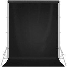 Fond noir photographie photos arrière-plans 1X2 1.5X2 1X3 1.5X3m 6 taille professionnelle pour Photo Studio Photoshoot télévision.