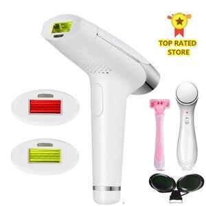Image 1 - Lescolton 2in1 maszyna do depilacji laserowej ipl maszyna do usuwania elektryczny depilator laserowy Depilador kobiety Body Bikini pod pachami trwałe usuwanie włosów
