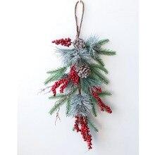 Рождественские поделки, венок из натурального ротанга, гавайская вечерние НКА, украшение «сделай сам», свадебная гирлянда, декор для фермер...