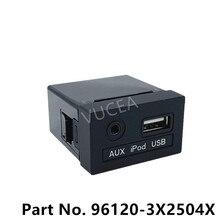 AUX & USB Jack Assy Genuice Teil Für Elantra 2015 961203X250 neue AVANTE OEM AUX iPod USB 2,0 1,8 MD 961203X2504X 96120 3X250