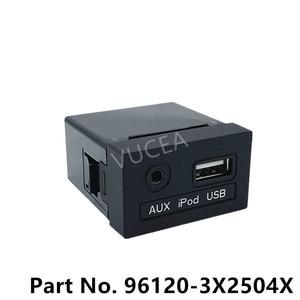 Image 1 - AUX i gniazdo USB Assy oryginalna część dla Elantra 2015 961203X250 nowy AVANTE OEM AUX iPod USB 2.0 1.8 MD 961203X2504X 96120 3X250