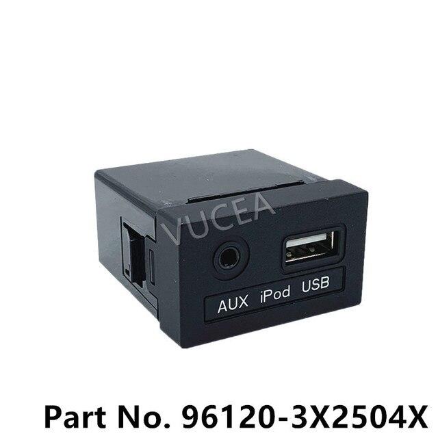 AUX i gniazdo USB Assy oryginalna część dla Elantra 2015 961203X250 nowy AVANTE OEM AUX iPod USB 2.0 1.8 MD 961203X2504X 96120 3X250