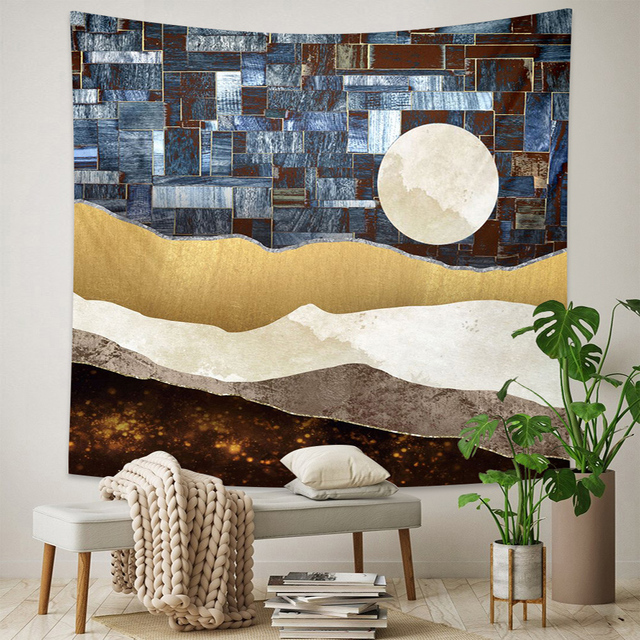 Abstract Landscape Wall Tapestry 4