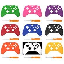 Xbox One 슬림 매트 용 전면 셸 Xbox One X S 슬림 컨트롤러 케이스 스킨 교체 하우징 용 상단 쉘 커버 교체