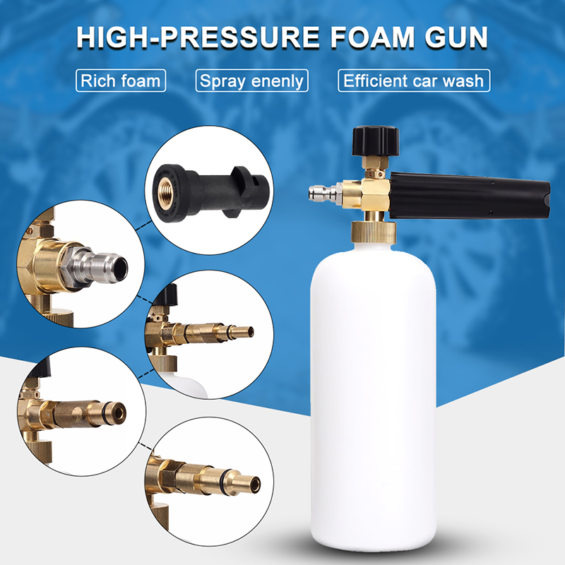 High Pressure Foam Gun Car Washer Deep Cleaning Dust Remover Automobiles Water Gun