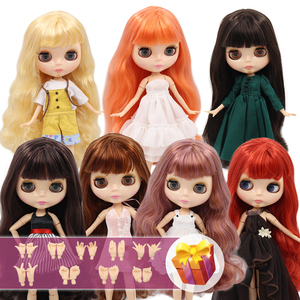 ICY Blyth Doll Nude 1/6 Joint Body 30CM BJD toys Natural shiny face with extra hands AB DIY Fashion Dolls girl gift(China)
