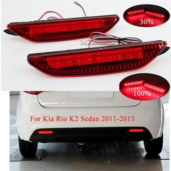 MIZIAUTO Car Rear Bumper Reflector lamp for Kia Rio K2 Sedan 2011-2013 Brake lights Tail Lamp Stop Warning Light Car assembly
