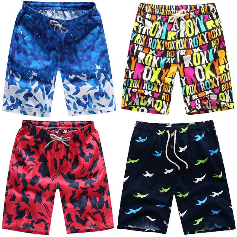 Summer Beach Shorts Men's Loose-Fit Shorts Youth Thin Male Fifth Pants Plus-sized Menswear Quick-Dry Surfing Large Boxers