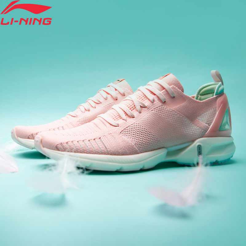 Li Ning Women SUPER LIGHT XVI Cushion Running Shoes LIGHT FOAM Breathable Mono Yarn LiNing Sport Shoes Sneakers ARBP012 XYP906-in Running Shoes from Sports & Entertainment    1