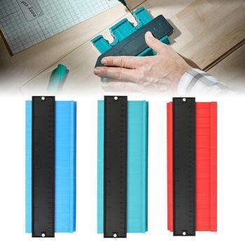 Medidor de contorno duplicador de perfil Irregular de 10 pulgadas para carpintería, plantilla de trazado de forma, herramienta de medición, tubo de guía de plantilla de perfil