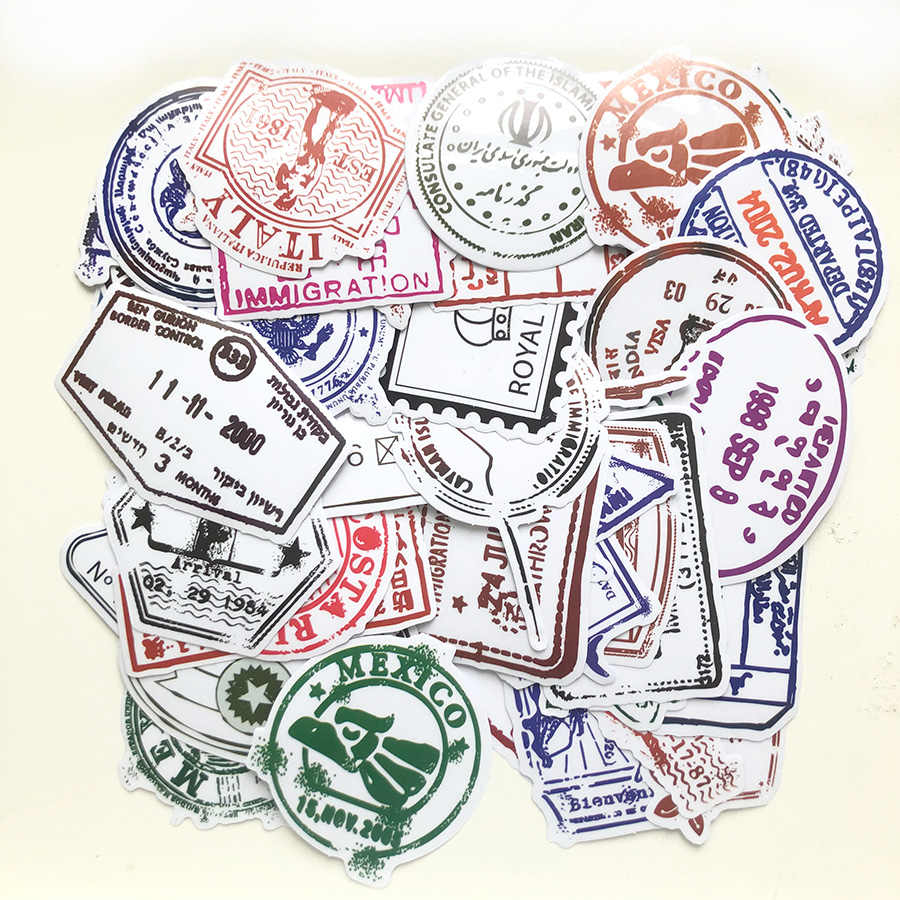 50 חתיכות שקוף רטרו חותמת דואר מדבקות קיר דקור מקרר אופני מחשב נייד לרכב רעיונות Bullet יומן מדבקת אין חוזר