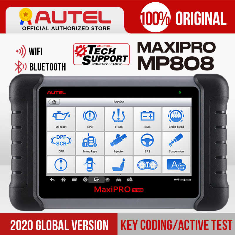Autel Maxipro MP808 Diagnose Scanner Tool OBD2 Scanner Obdii Automotive Tools Als Maxidas DS808 Maxisys MS906 Update Van DS708