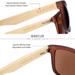 Image 3 - BARCUR erkekler kadınlar için polarize bambu güneş gözlüğü ahşap güneş gözlüğü lunette de soleil femme