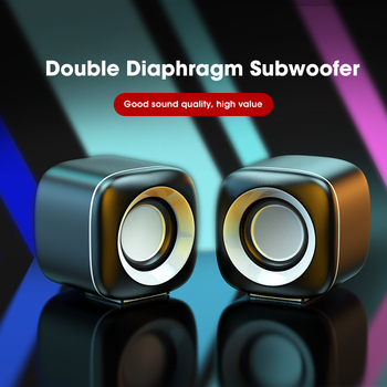 Mini Computer Speakers Deep Bass Sound Speaker for For TV Laptop Surround Sound Box Subwoofer Powerful Multimedia Loudspeakers 4
