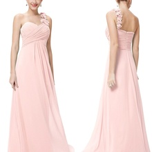 2020 New Bridesmaid Dresses Elegant One Shoulder A-line Chif