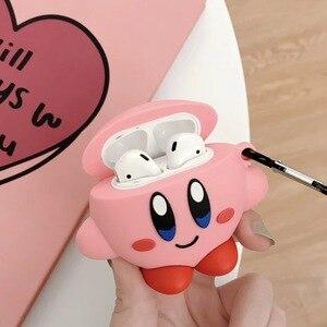 Image 5 - 3D Милые чехлы для наушников с японским мультяшным рисунком Kirby Star Alliance для Apple Airpods 1/2 силиконовый защитный чехол для наушников Аксессуары