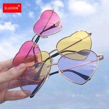 Женские Модные солнцезащитные очки в форме сердца, праздничные Светоотражающие зеркальные линзы, модные роскошные солнцезащитные очки, бр...