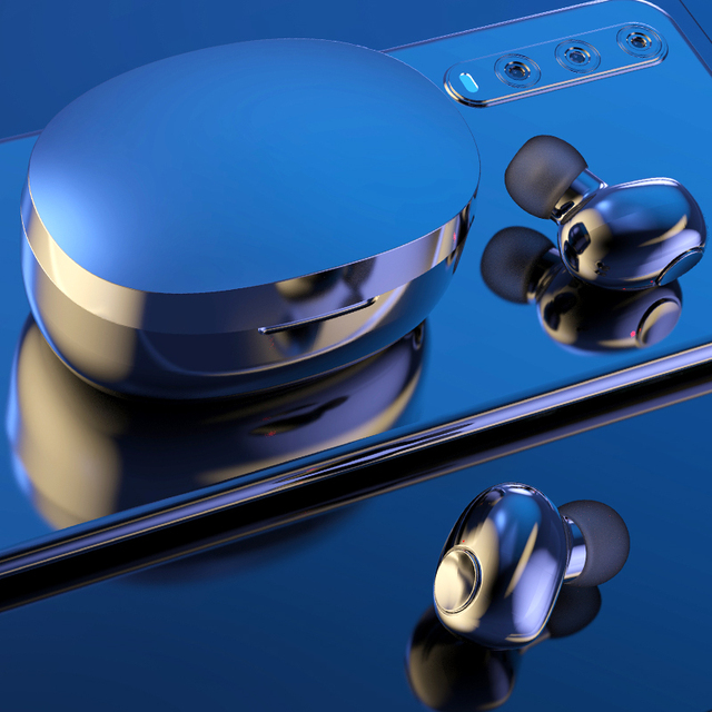 Wireless Earphones TWS Bluetooth 5.0 Mini Earbuds Stereo Bass LED Power Display Noise Cancelling Sports Waterproof Earbud In Ear 4