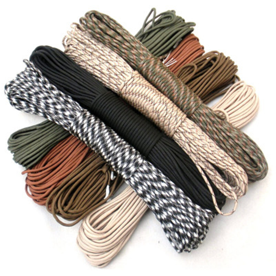 31 Meters Dia.4mm 7 stand Paracord for Survival Camping Hiking Rope Parachute Cord Lanyard Outdoor Climbing Rope profession