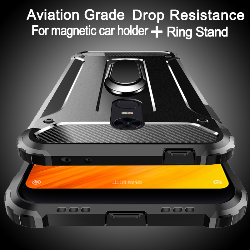Aviation Shockproof Ring Stand Phone Case For LG G7 G6 G5 K10 K8 K7 V40 V50 Thinq Cover
