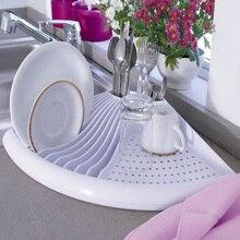 Escorredor de louça, organizador de cozinha e pia para pratos, tigelas, copos, talheres com cesta