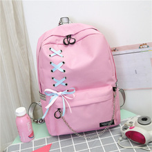 INS-Style Women Simple School Backpack Computer Zipper Bag Middle School Students Bags Travel Bag Back Pack