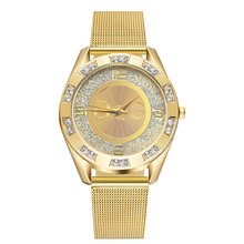 2019 new fashion gold silver women watches stainless steel m